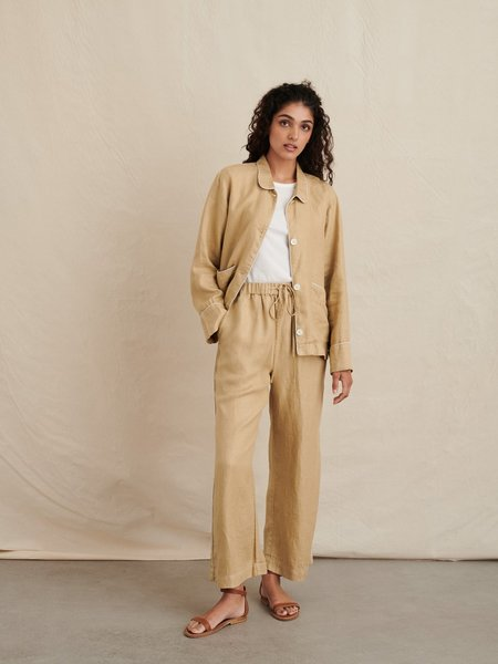 Alex Mill Polly Pant in Linen - vintage khaki