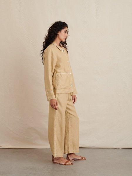 Alex Mill Polly Shirt Jacket in Linen - Vintage khaki