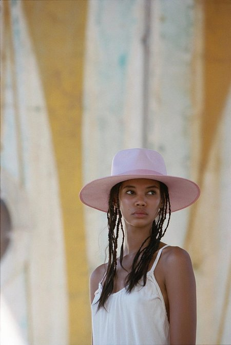Unisex Lack of Color Stardust Rancher Hat - Dusty Pink