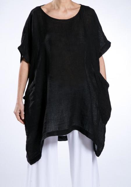 Join Clothes Linen Gauze Pocket Detail Oversized Top
