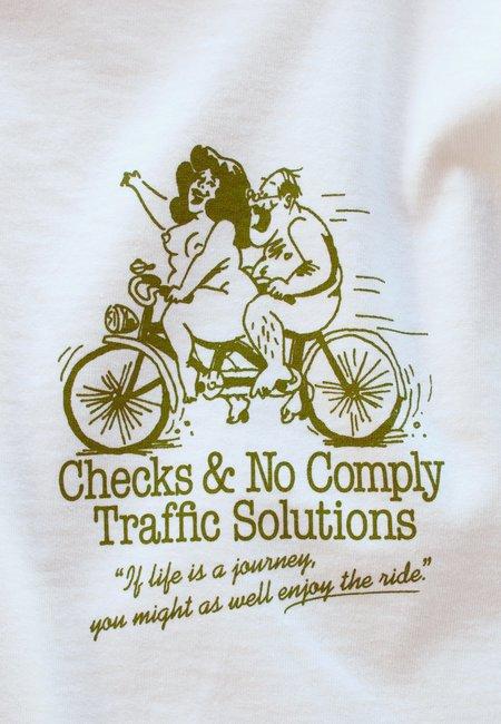 No comply x Checks Inc Traffic Solutions Long Sleeve - White