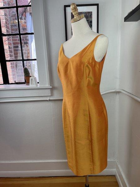 Vintage 1990s Ann Taylor Silk Dress - Orange