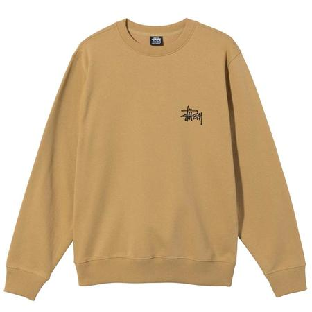 Stussy Crew Basic sweater - Khaki