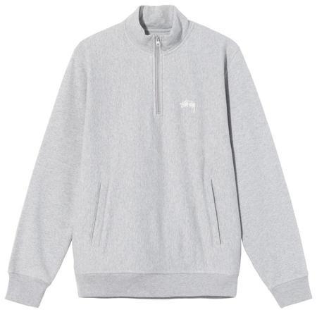 Stussy Stock Logo Mock sweater - Grey Heather