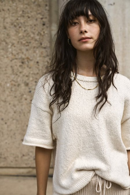 Wol Hide Loose Pullover - natural
