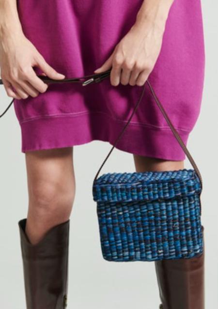 Rachel Comey Straw Lunchbox Crossbody Bag