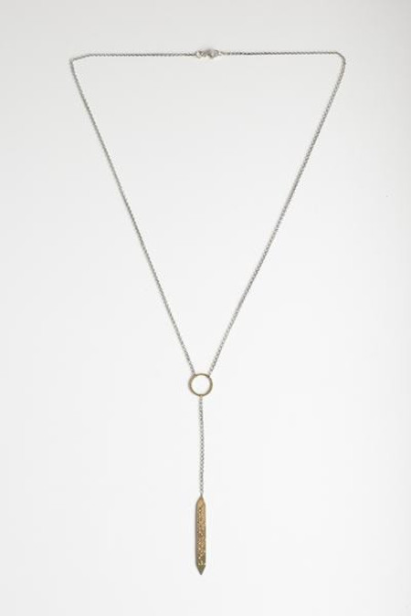 Covet + Keep maggie necklace - brass/silver