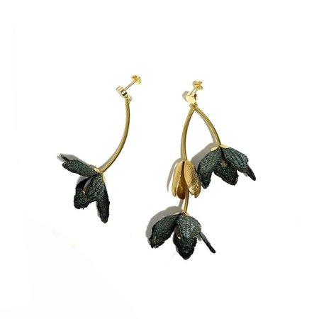 This Ilk Tiare Earrings - Moss