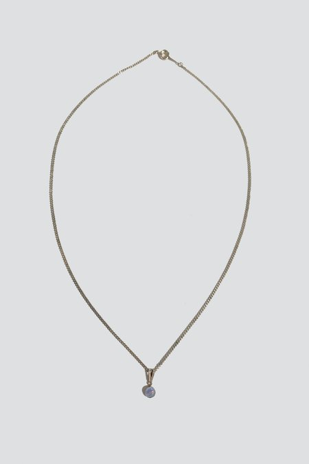 Vintage Opal Pendant Necklace - Sterling Silver