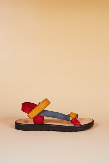 """""""INTENTIONALLY __________."""" Transfer Sandals - Red Combo"""
