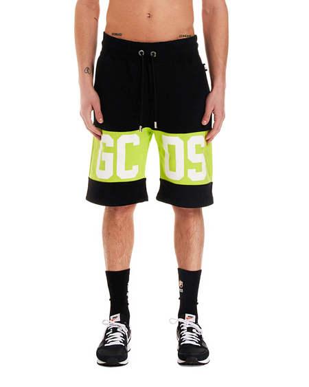 GCDS print Shorts - black/green