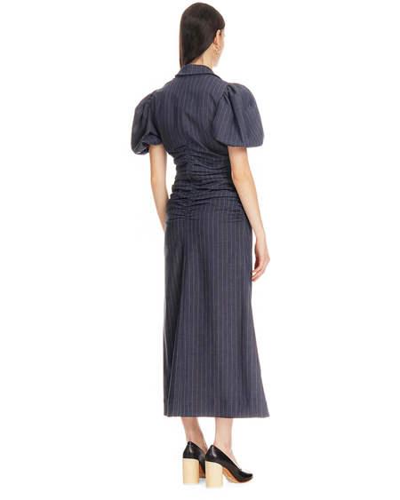 Ganni Fitted Striped Dress