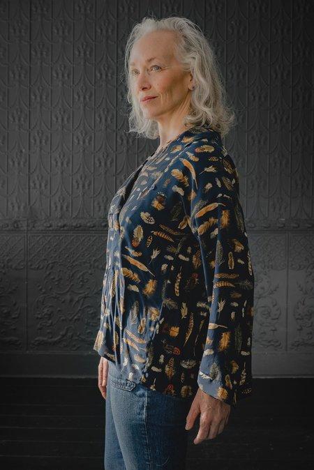 Pamela Mayer Fold Top - feather print