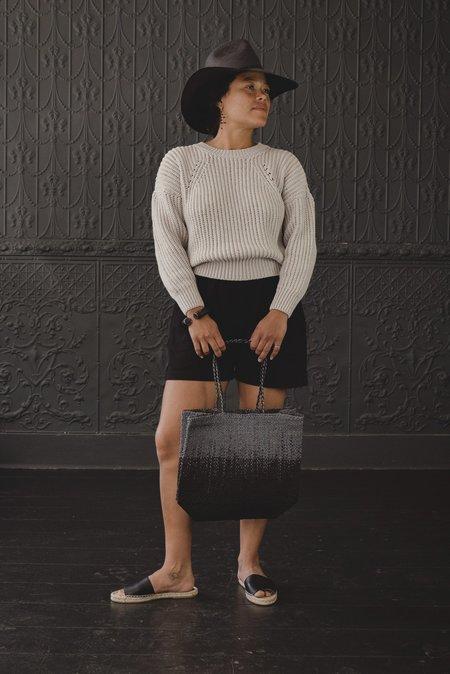 Sophie Digard Raffia Sack bag - charcoal