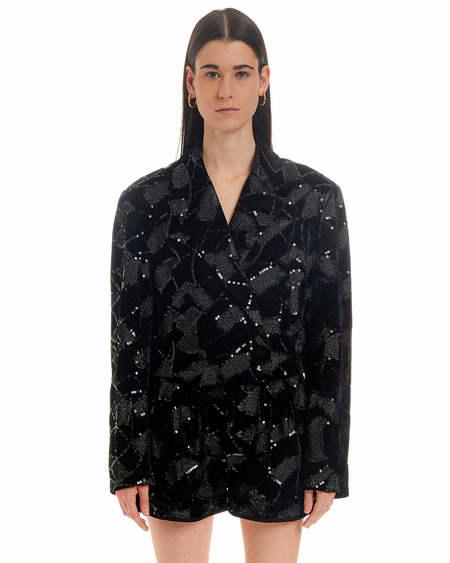 Rotate Sequins Jacket - Black