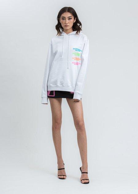 we11done Jersey Print Mini Skirt - black