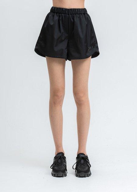 we11done Women's Satin Short - Black