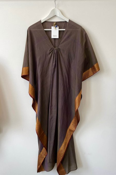 Two New York Caftan dress - Taupe Sari