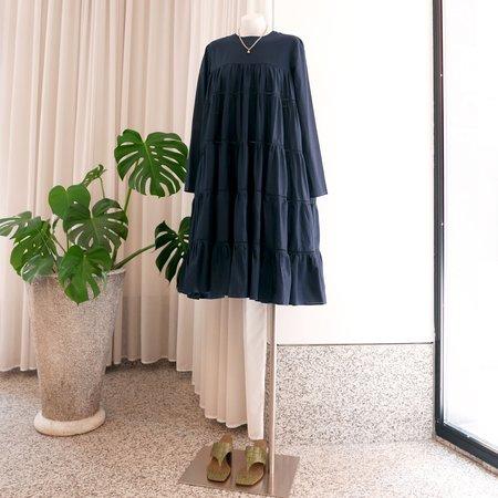 Merlette Essaouira Tiered Dress - Navy