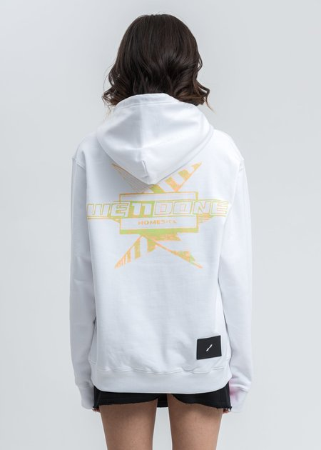 we11done Multi Color Logo Hoodie - White