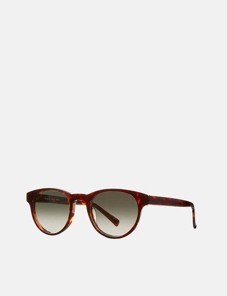 YMC x Bridges & Brows Bubs Sunglasses - Crystal Tortoise/Graduated Green