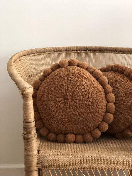 Cushion Puawai Pom Pom Cushion - Earthy
