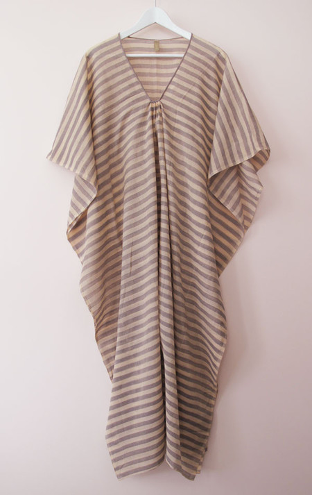 Two New York Peach cotton striped caftan