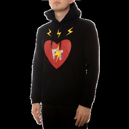 UNISEX abrice Tardieu Hoodie Good Vibes Star FT FTHHB sweater - Black
