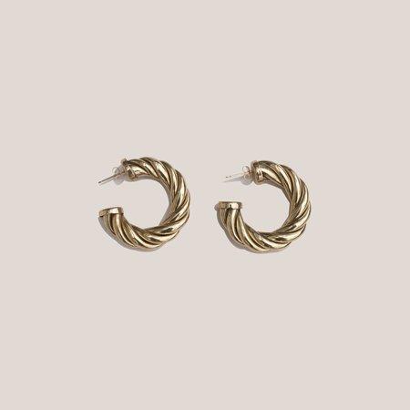 Laura Lombardi Small Spira Hoops - Brass