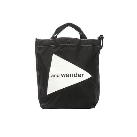 and wander CORDURA LOGO TOTE BAG - BLACK