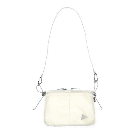and wander SIL SACOCHE BAG - OFF WHITE