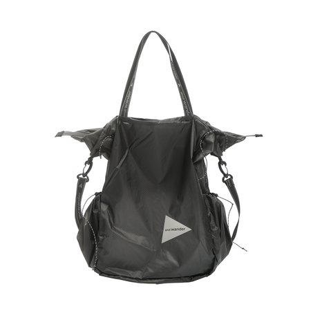 and wander SIL TOTE BAG - CHARCOAL