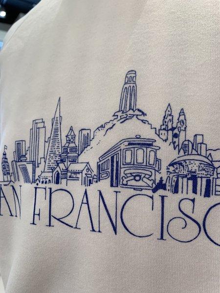 Vintage Tilted Brim Tourist Hooded Sweatshirt - White
