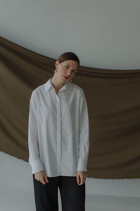 Mina Crisp Shirt - White