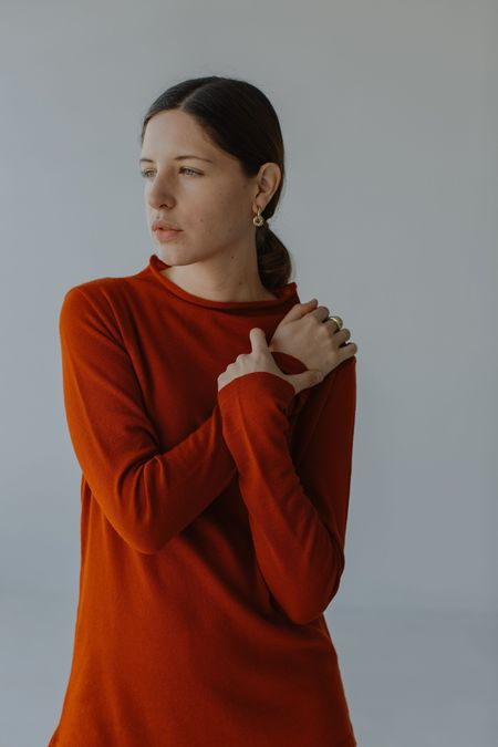 Mina Yoli Knit Top - Tangelo
