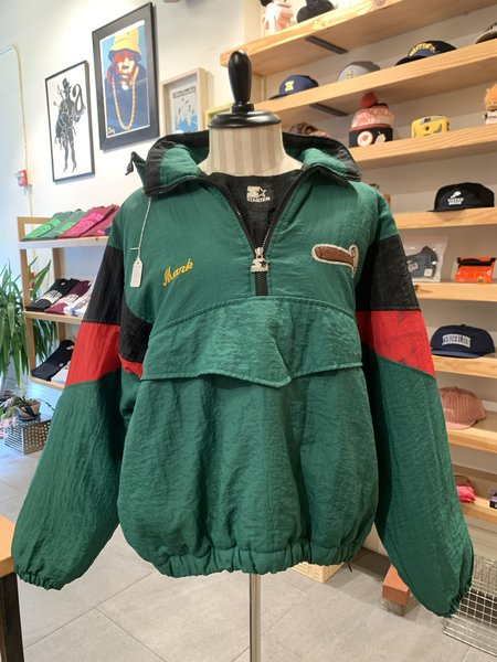 Vintage Tilted Brim Custom Starter Parka Jacket - Green