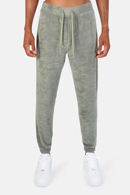 Blue&Cream Poolside Terry Pull On Pants - Khaki