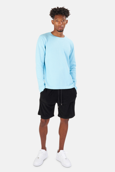 Blue&Cream Reade Long Sleeve T-Shirt - Surf Turquoise
