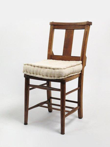 Erica Tanov hand tufted cotton seat cushion - natural