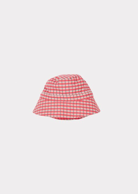 Kids Caramel Wembley Baby Hat - Red Painted Check