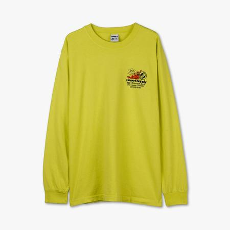 Powers Shop Long Sleeve Tee shirt - Safety Yellow