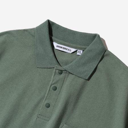 Uniform Bridge Collar Polo Tee - Olive Green