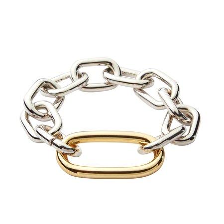 Machete Interchangeable Oval Link Bracelet - Silver/Gold