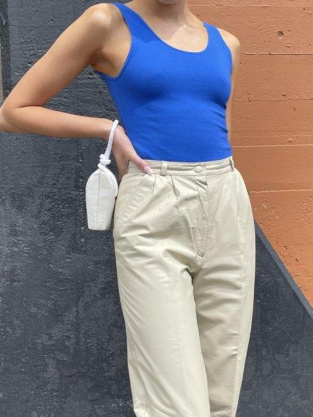 Vintage Cotton Bodysuit - cobalt