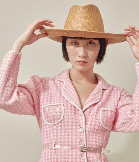 Clyde Panama Straw Caro Hat - Terra