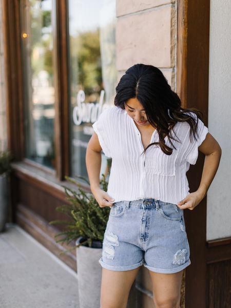 Bella Dahl Pocket Button Down - White