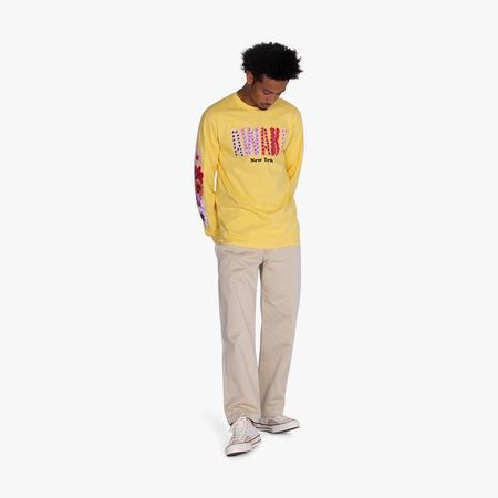 Awake NY Bloom Logo Long Sleeve T-shirt - Yellow