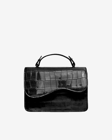 Hvisk Crane Croco Bag - Black