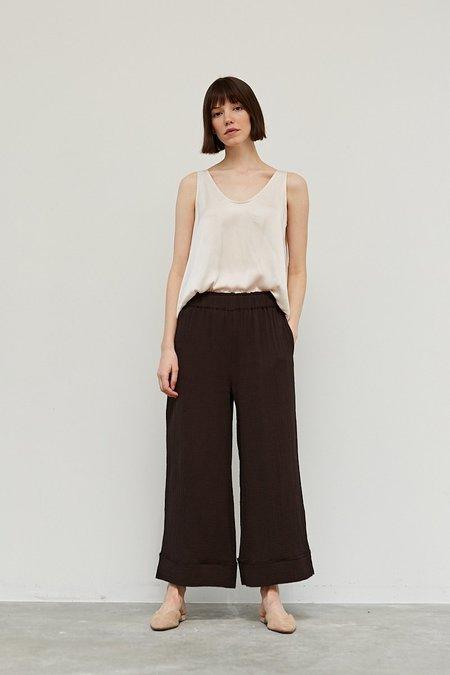 Azalea Goldie Gauze Wide Leg Pant - black