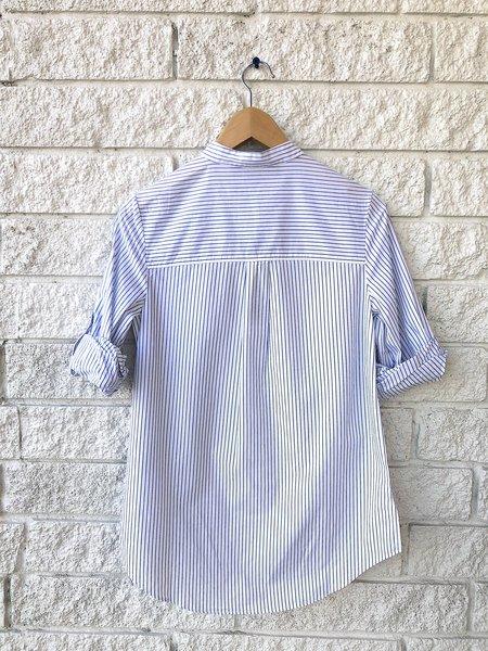 Veronica Beard Waha Tunic Shirt - White/Blue